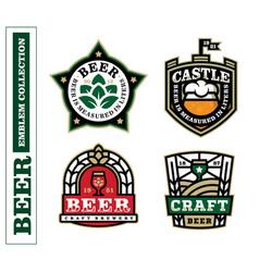 modern professional label set for a craft beer vector image
