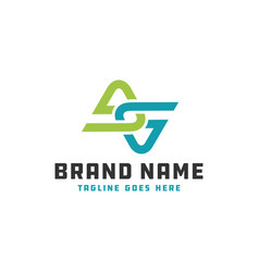 Monogram logo letter initials ga vector