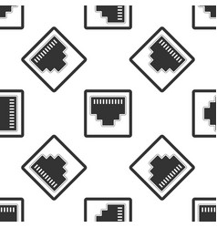 network port - cable socket icon seamless pattern vector image