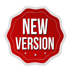 New version label or sticker vector