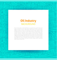 oil industry paper template vector image