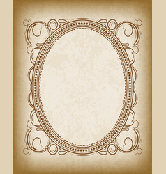 old oval frame with the blacked out edges and a vector image