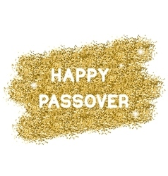 Passover gold background vector