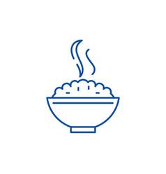 porridge line icon concept porridge flat vector image