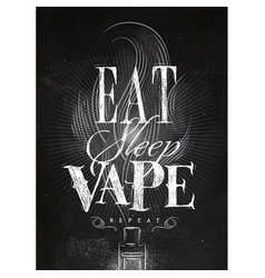 Poster vape on vector