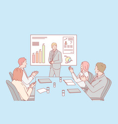 Presentation business congratulation hiring vector