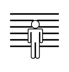 Prisoner in signing isolated icon design vector