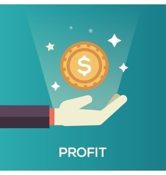 Profit - flat design single icon vector image