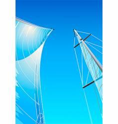 Sailing rig vector