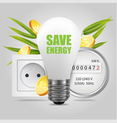 Save energy concept for poster banner vector