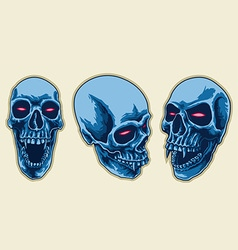 Scary Skull Set vector image