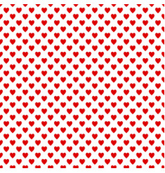 seamless red heart pattern background - love vector image