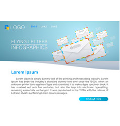 sending mail newsletters vector image