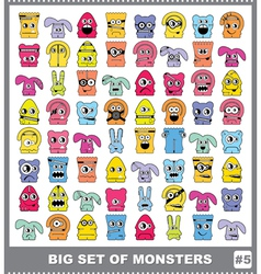 Set of monsters vector