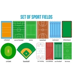 Set of most popular sample sport fields vector