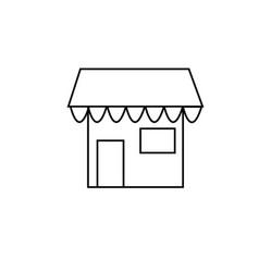 shop icon vector image