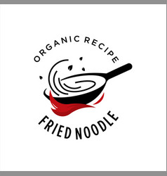 simple fried noodles street food culinary vector image