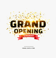 Stylish grand opening ceremony card design vector