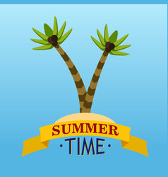 summer time with palms vector image