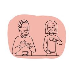 Tea-table talk vector
