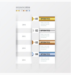 Timeline gold bronze silver blue color vector