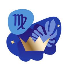 Virgo modern zodiac icon vector