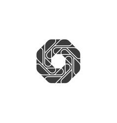 vortex spinning circle logo abstract circle shape vector image