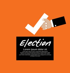 Vote for election concept vector