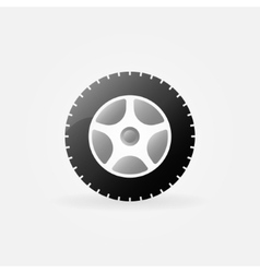 Wheel icon or logo vector image
