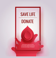 world donor day vector image