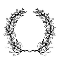 wreath leaves foliage floral vector image