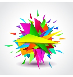 Abstract geometric shapes explosion vector image