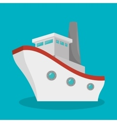 boat travel isolated icon vector image vector image