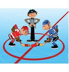 Ice hockey cartoon vector image vector image