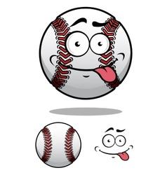 Cartoon baseball ball with a cheeky grin vector image vector image