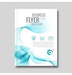 corporate brochure annual report flyer vector image vector image
