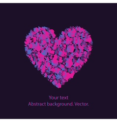 heart with a pattern on a dark background vector image
