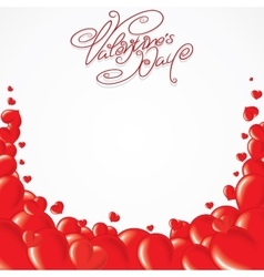 Valentines Day Template Card vector image vector image