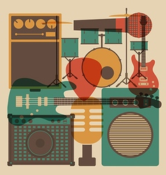 202abstract rock music vector