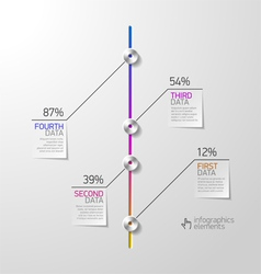 Abstract business infographics design element vector image vector image