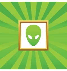 Alien picture icon vector