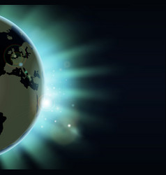 earth eclipse concept vector image