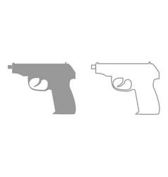 hand gun it is black icon vector image vector image