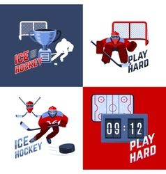Hockey Design Concept vector image