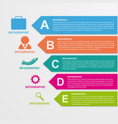 Infographics template in the form of ribbons vector image