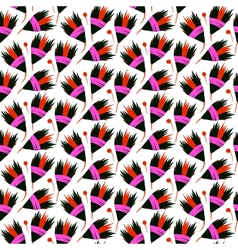 seamless floral pattern with black tulips vector image vector image