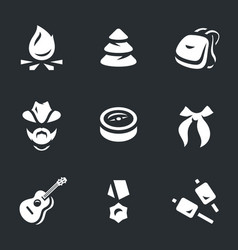 set of scouting icons vector image vector image