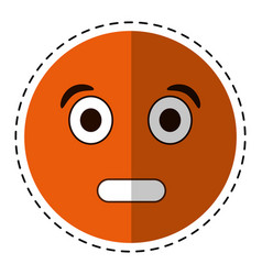 cartoon surprised emoticon funny vector image vector image