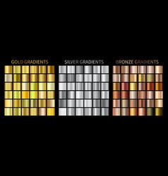 gold silver bronze gradients vector image vector image
