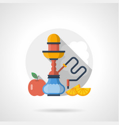 hookah fruit flavors color detailed icon vector image